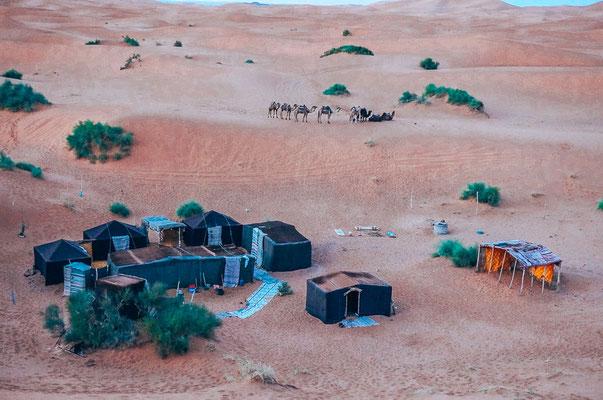 Firecamp in der Erg Chebbi Wüste