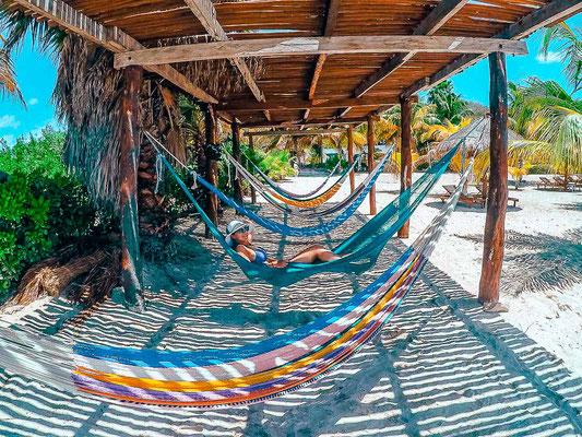 Hängematten auf Isla Mujeres