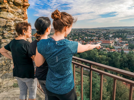 Ausblick von der Burg Gars im Kamptal