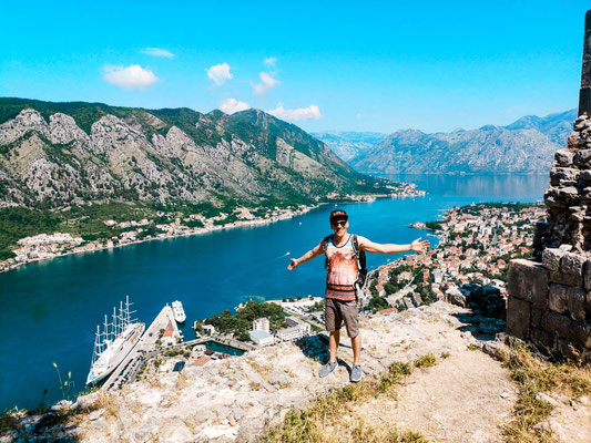 Bucht von Kotor Ausblick Festung