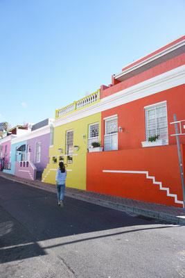 Bunte Häuser in Kapstadt