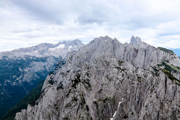 Gosaugletscher und Panorama Dachsteingebirge