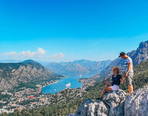 Ausblick auf den Weg zum Lovcen Nationalpark