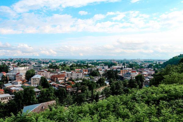Kutaisi Reisetipps Ausblick von Bagrati Kirche