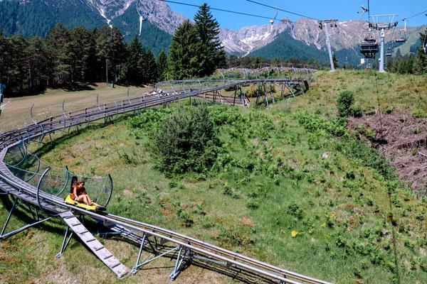 Längste Sommer-Rodelbahn der Welt Alpine Coaster in Imst