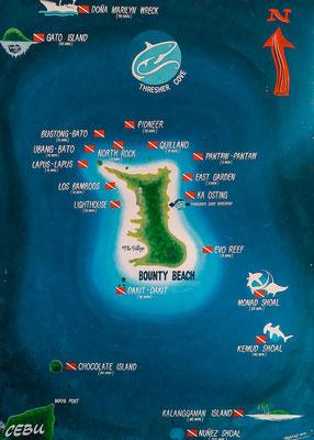 weitere Tauchspots um Malapascua Island