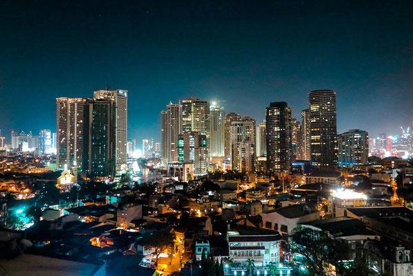 Ausblick von Rooftop Bar Manila