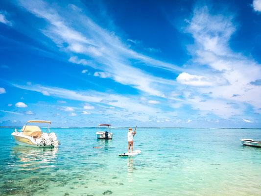 SUP auf Mauritius