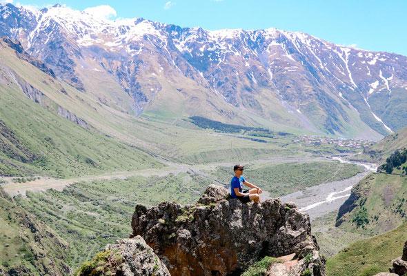 Wandern Kaukasus Stepanzminda Georgien