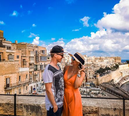 Valletta im Hintergrund