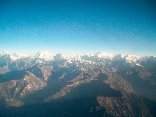 Himalya-Gebirge Rundflug