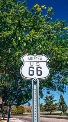Route 66 Zeichen in Kingman