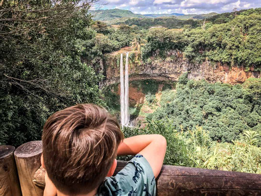 Ausblick auf Chamarel Wasserfall