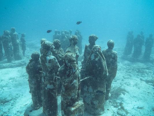 Unterwassermuseum auf Isla Mujeres