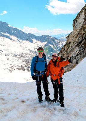 Traveloptimizer bei einer Hochtour in den Alpen