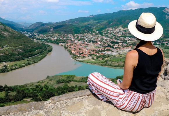 Tiflis Ausflug Höhlenstadt Uplisziche