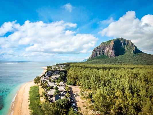 Ausblick auf den Le Morne Brabant auf Mauritius