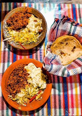 Typisches Essen in Guatemala