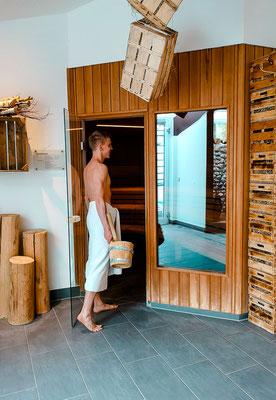 Sauna mit eigenem Aufguss
