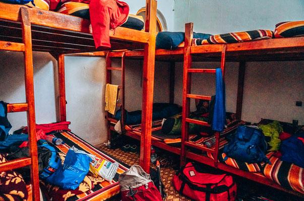 20er Dorm im Refugee Camp bei der Besteigung des Jbel Toubkal