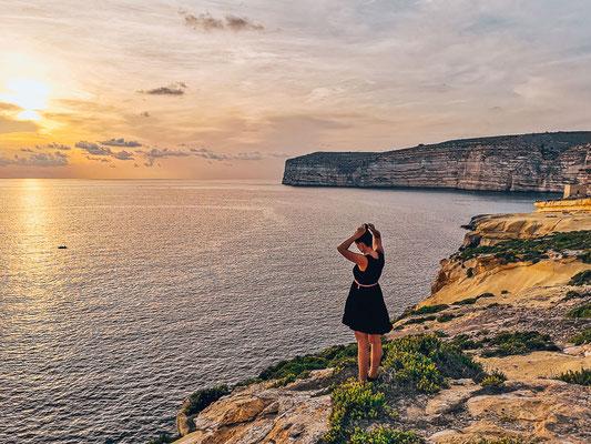 Sonnenuntergang in Xlendi auf Gozo