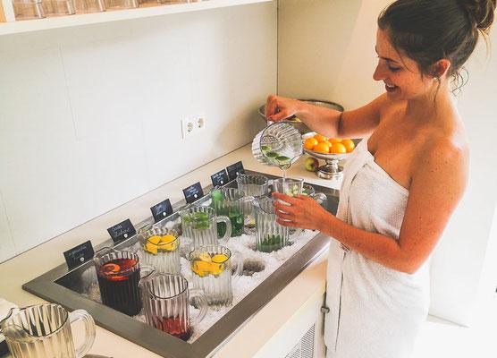 Säfte im Wellnessbereich LaPura Women´s Health Resort