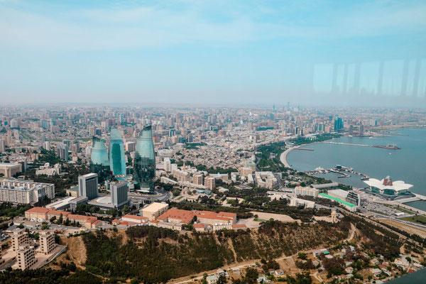 Aussicht Baku Stadt Fernsehturm Telequilla