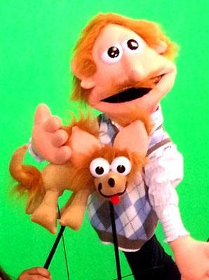 el maestro de Ingles y su perro Puchi por titeres garabatosos