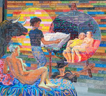 """Tauromanos"", 2010, Acrylic on canvas"