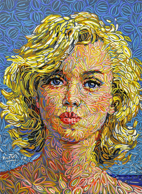"""""""Marilyn"""", 2014, Acrylic on paper, 20 x 25 inches"""