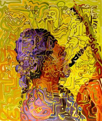 """Musician"", 2010, Oil on canvas"