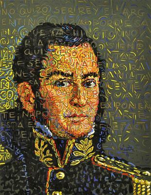 """Jose Di San Martin"", 2014, Acrylic on paper, 20 x 25 inches"