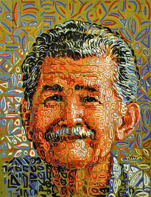 """Luis Madalengoitia Toledo"", 2014, Acrylic on paper, 20 x 25 inches"