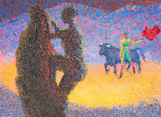 """""""The Day that Bullfighting was banned from Barcelona"""", 2011, Oil on canvas"""
