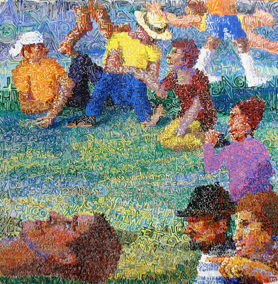 """""""Picnic in the Park"""", 2010, Acrylic on canvas"""