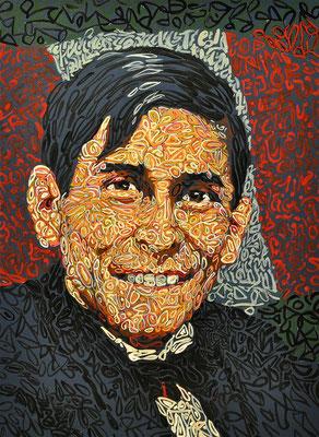 """Carlos Mariatigui"", 2014, Acrylic on paper, 20 x 25 inches"