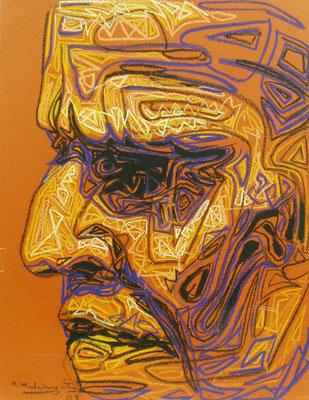 """Pensador, 2003, 24"""" x 20"""""""