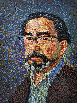 """""""Alfredo Villavicencio"""", 2014, Acrylic on paper, 20 x 25 inches"""