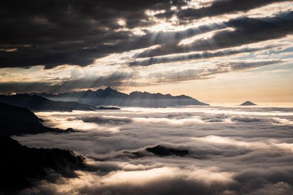 Golden light clouds