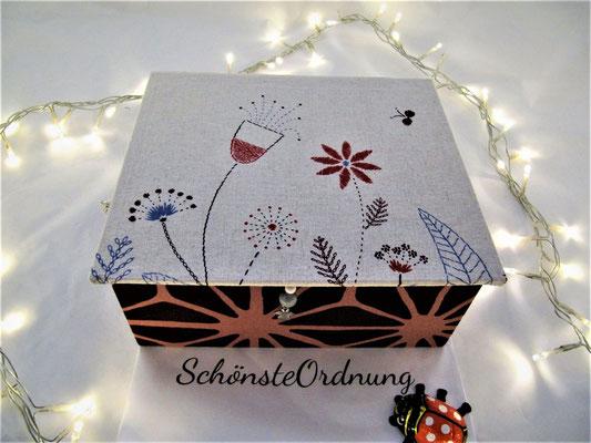 Schmuckbox groß Blumenwiese zur Kommunion verschenken