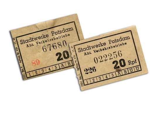 Fahrscheine vom November 1945