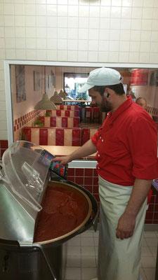 Produktion der Currysauce