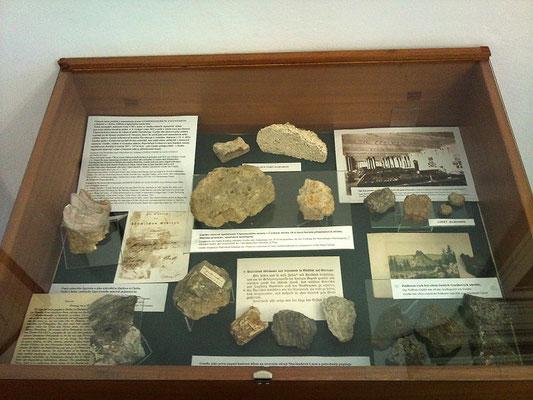 Diese Gesteinssammlung im Stadtmuseum schenkte Goethe dem Prager Museum.