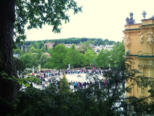 Konzert am Springbrunnen in Marienbad