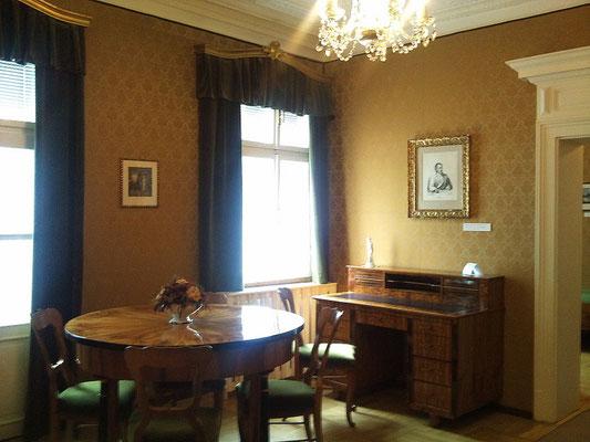 """Goethe's Zimmer in der damaligen Pension """"Zur goldenen Traube"""""""