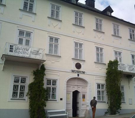 """Stadtmuseum Marienbad - hier übernachtete Goethe in der damaligen Pension """"Zur goldenen Traube"""" bei seinen zahlreichen Besuchen in Marienbad."""