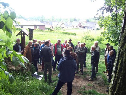 Informationen am Vulkan Kammerbühl bei Eger (Cheb)