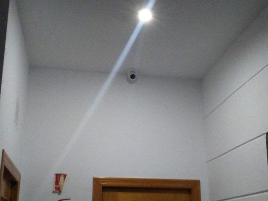 Detalle de cámara en zaguán