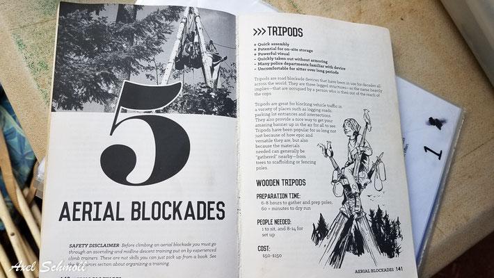 Gebrauchsanweisung zum Widerstand - Blockaden (hier mit Hilfe eines tripods)