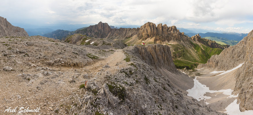 Alpenpanorama an der Tierser Alpl-Hütte
